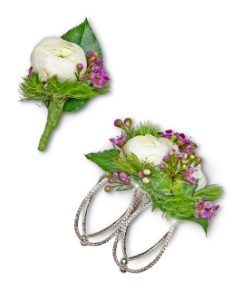 Intrinsic Corsage and Boutonniere Set