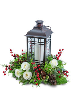 Hollyberry Rose Lantern