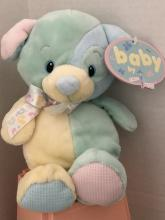 Baby Dog Rattle Plush