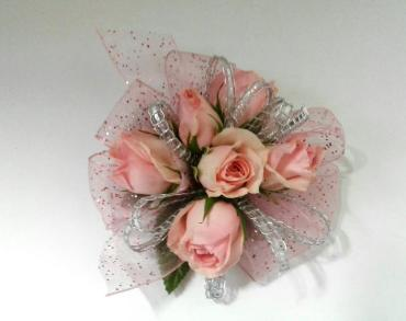 Pink Spray Roses With Gems
