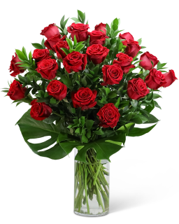 Red Roses with Modern Foliage (24)