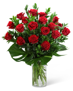Red Roses with Modern Foliage (18)