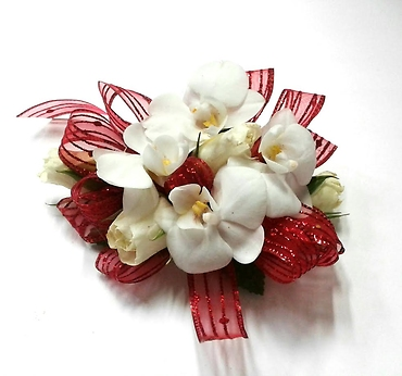 Orchid And Red Ribbon