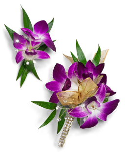 Wanderlust Corsage and Boutonniere Set