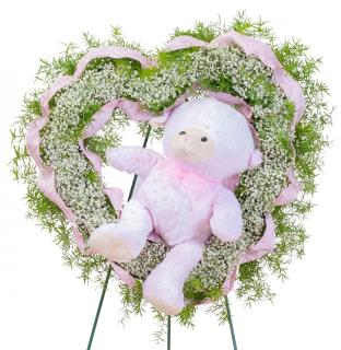 Tiny Angels Wreath in Pink