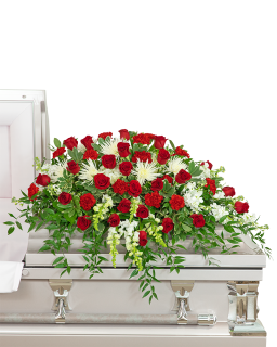 Serene Sanctuary Casket Spray