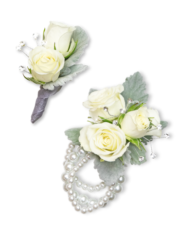 Virtue Corsage and Boutonniere Set