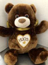 Hug Me Bear With Gold Bow